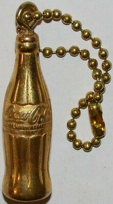 Vintage keychain COCA COLA with gold bottle unused new old stock n-mint cond