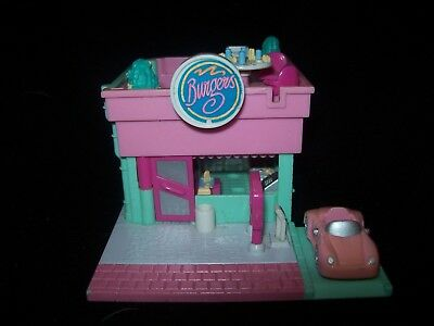 USED Vintage Polly Pocket Drive in Burger Restaurant 1994 (No Dolls/Balloons)