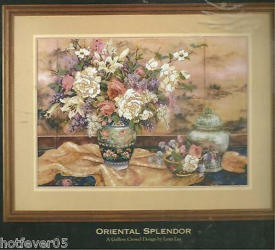 Dimensions Gold ORIENTAL SPLENDOR CREWEL Embroidery Picture KIT,Sealed.#1499
