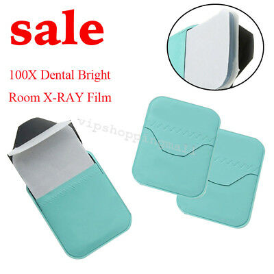 100pcs Dental Bright Room X-RAY Film D Speed Size 2 For Reader Scanner Device CE