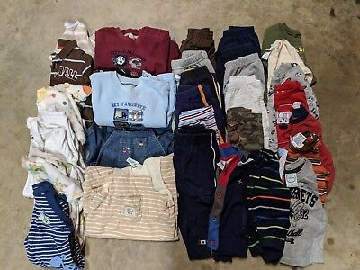 Baby Boy Toddler Clothes Lot 9 months fall/winter 32 Pieces