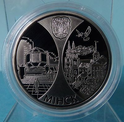 Belarus 1 Ruble 2008  Minsk. Capitals of EurAsEC Countries Proof PP