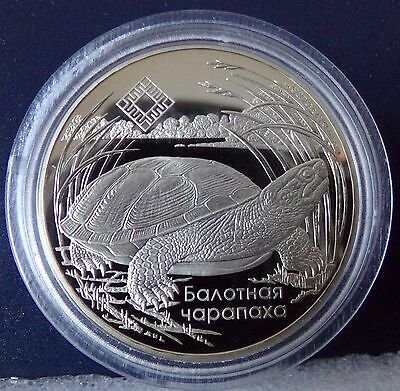 Belarus 1 Ruble 2010 BOG TURTLE Proof Sumpfschildkröte PP  RAR
