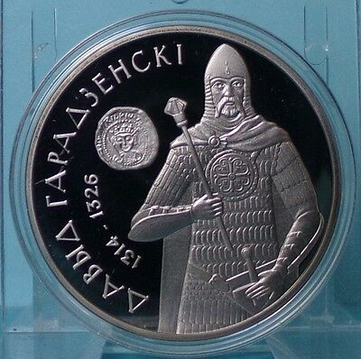 Belarus 1 Ruble 2008 Davyd of Garadzen PP Proof