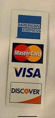 Credit Card Decal Sticker Double Sided American Express/mastercard/discover/visa