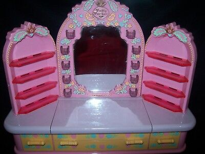 Used Polly Pocket Pyjama Party Dressing Table 1990 - No Dolls or Accessories