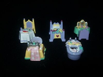 USED Vintage Polly Pocket Five Ring Toppers from the 991 Ring Cases