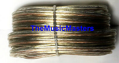 Car Audio Home Stereo SPEAKER WIRE 14 Gauge 15' ft Clear HD Quality Cable VWLTW