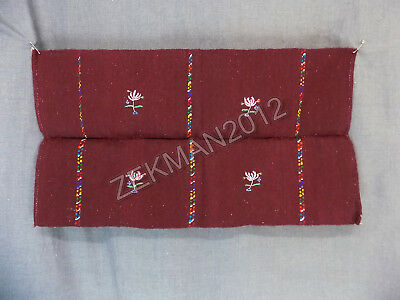 Antique Folk Macedonian Hand-woven and Embroidered Woolen Pillow Case Front
