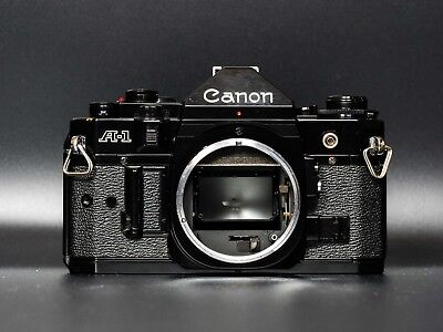 Canon A-1 A1 35mm SLR Film Camera Body Only - New Light Seals - Very Good