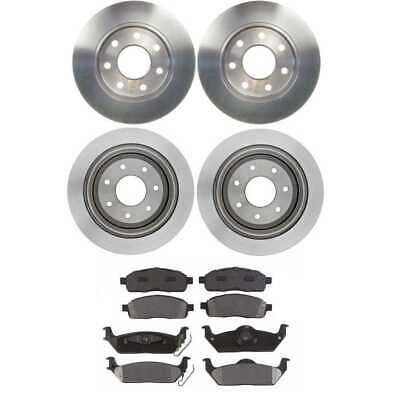 New Front & Rear Set Brake Rotors and Brake Pads fits Ford F-150 Lincoln Mark LT