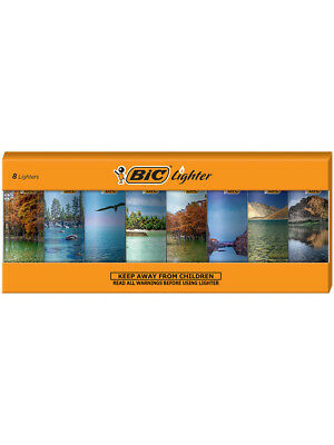 BIC Special Edition Landscapes Series Lighters, Set of 8 Lighters