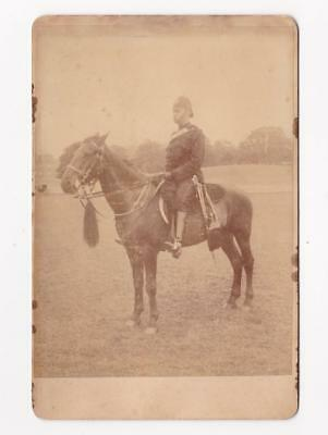 Cabinet Photo ARMY OFFICER on HORSE (King's Royal Rifle Corps?)_LAMB, STOURPORT