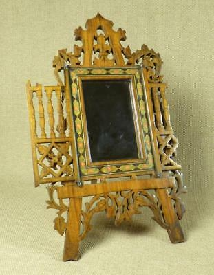 For RESTORATION: Antique SORRENTO WARE EASEL MIRROR or PHOTO FRAME, Italy