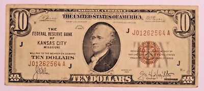 1929 Series $10 National Currency - FRB of Kansas City, Missouri