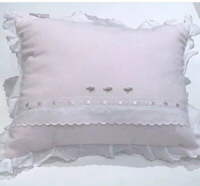 Nubeluna Pillow Cushion Nursery Baby Girl Whit And Pink Brand New