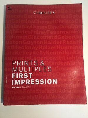 Christie's Catalog 3756 Prints & Multiples FIRST IMPRESSION NY Auction July 2015