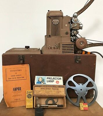 Vintage Ampro Compact 16mm Sound Projector 1948 - With Extras - Working