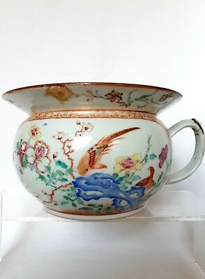 Stunning Antique Chinese Pot with Handle, 18th C. Qianlong