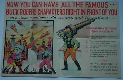 Original Cocomalt Buck Rogers Free Offer For Free Cut-Out Adventure Book