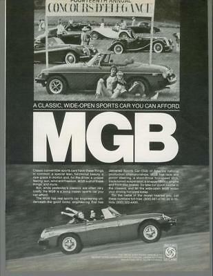 1979 MGB Roadster MG Wide Open Sports Car Convertible Vintage Print Ad 1970s