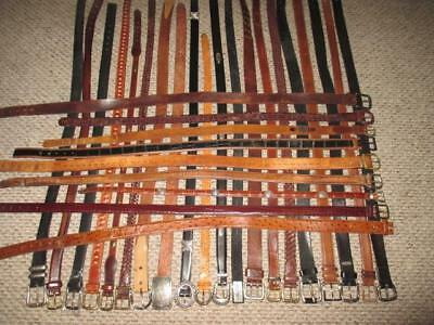 Vtg Wholesale HUGE 29 Pc Lot LEATHER Cowhide Buckle Vintage Western BELTS S M L