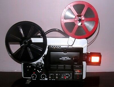 Yashica SOUND P820 Magnetic Movie Projector In BOX & Extra Bulb ~SERVICED~