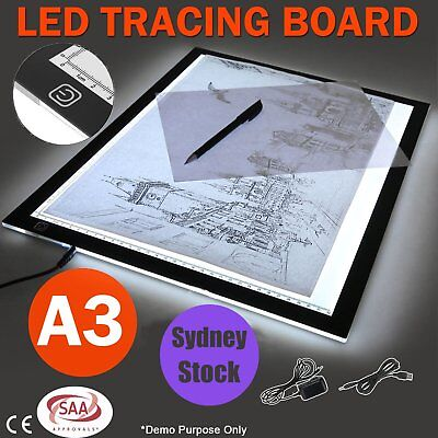 A3 LED Light Box Tracing Board Art Design Stencil Drawing Pad Copy Lightbox KO