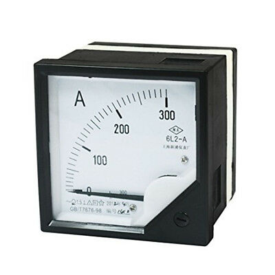 6L2-A 1Pcs Analog Ammeter AC 0 -300A Class 1.5 Accuracy Vertical Mounted