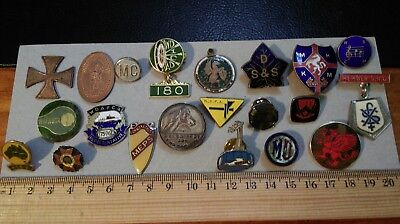 21 Different Metal Badges Pins Medallions Non Military Some Identifiable, + Unid
