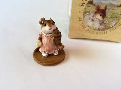 Wee Forest Folk M-218 MOUSEY'S BUNNY SLIPPERS -  PEACH Ltd. SPECIAL - Mint