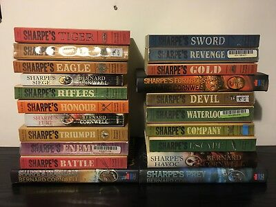 Complete set of Bernard Cornwell Richard Sharpe books