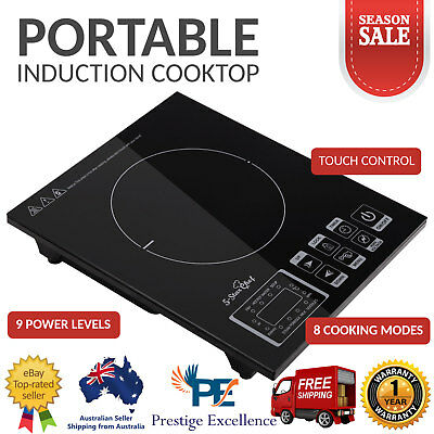 Portable Single Ceramic Electric Induction Cooktop 5 Star Chef Cook Top Cooker