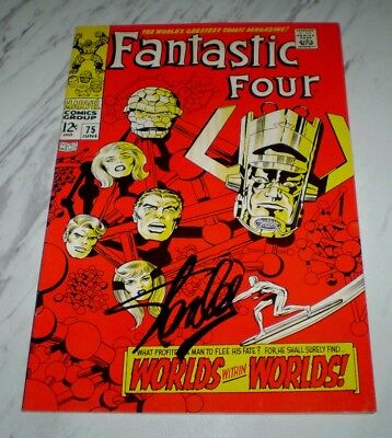 Fantastic Four #75 High-grade 1968 Silver Surfer & Galactus, Stan Lee signed