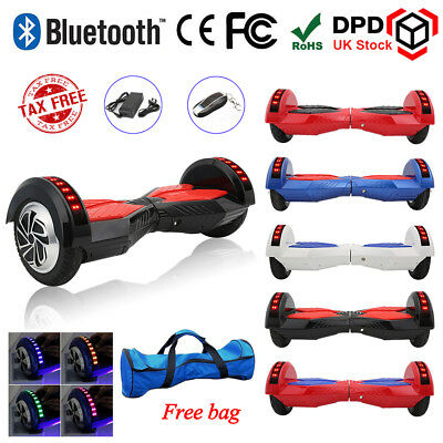 8 INCH Self Balancing Electric Scooter Balance Board Bluetooth+REMOTE LED Light