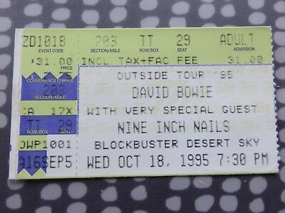 David Bowie - Nine Inch Nails - Ticket - Phoenix USA - Outside Tour