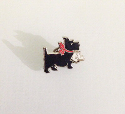 Ice Skating Scottie Dog Collectors Pin - Great Gift