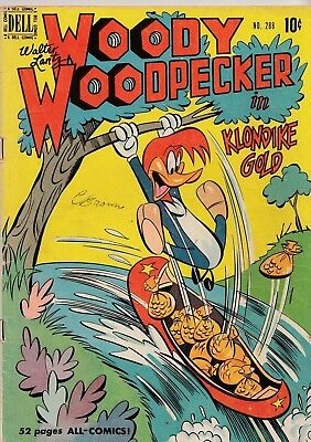 Walter Lantz Woody Woodpecker #288 1950 Golden Age Dell 4 Colour