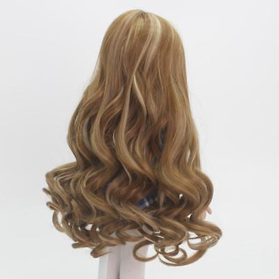 37cm Fashion Brown Long Curly Hair Wig for 18inch American Girl Doll Making