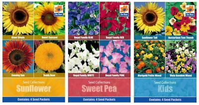 SUNFLOWER, SWEET PEA and IDEAL FOR KIDS Garden SEED BUMPER PACK