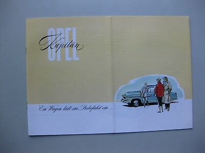 Opel Kapitän prestige brochure Prospekt German text Deutsch 1953 16pages REPRINT
