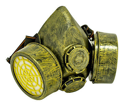 NEW Highly Detailed Steampunk GAS MASK Respirator -  Cosplay