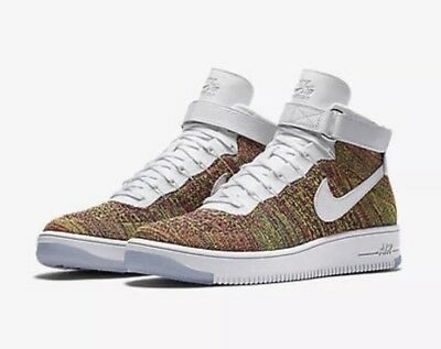 pretty nice 80b1b 27a34 NIKE AF1 ULTRA Flyknit Mid Air Force 1 Multi-Color Size Men's 6.5  [817420-700]