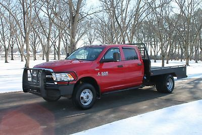 2014 Ram 3500 Crew Cab 4WD Flat Bed w/New Motor One Owner Perfect Carfax Cummins Diesel Flat Bed Great Service History New Motor
