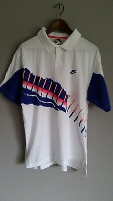 Nike Challenge Court / Vintage Polo-Shirt / Andre Agassi Collection 1990 / Gr. L