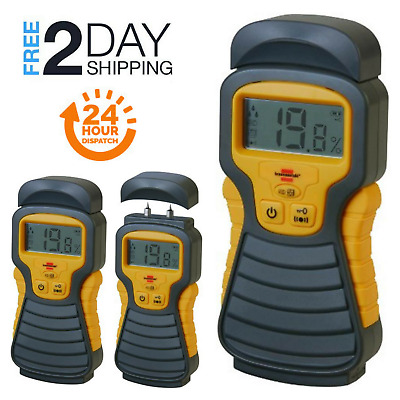 Digital MD Moisture Detector Meter Wood Material Humidity Tester LCD Display NEW