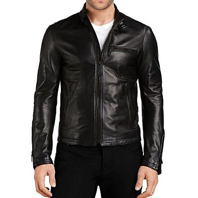 Women's Black Slim Fit Motorcycle Biker Bomber Leather Jacket