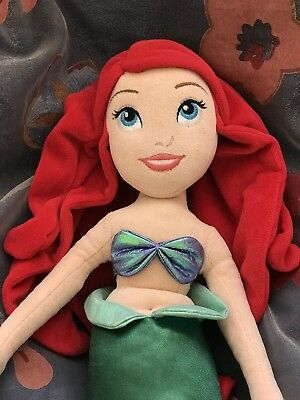 Disney Store Princess Plush Little Mermaid Ariel Doll ~21""