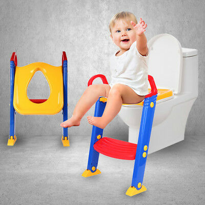 Foldable NonSlip Trainer Kids Toilet Ladder Baby Training Toilet Step Potty Seat