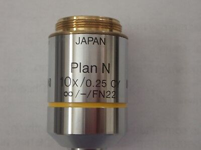 Olympus Planachromant N 10x CY Objective For The BX Microscope